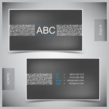 id card: Vector abstract creative business cards (set template) Illustration