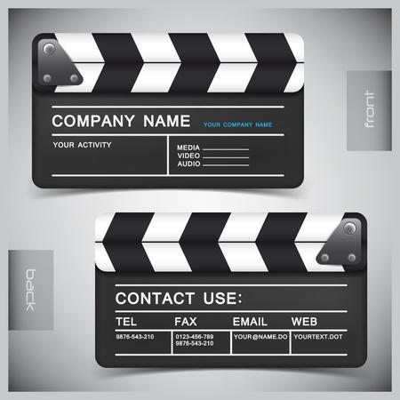 clap board: abstractos tarjetas de visita creativas (modelo establecido)