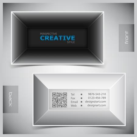 visits: abstractos tarjetas de visita creativas (modelo establecido)