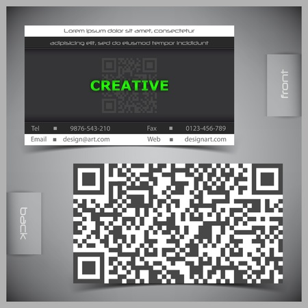 business card template: abstract creative business cards (set template) Illustration