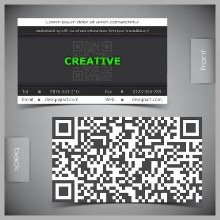 visits: abstractos tarjetas de visita creativas (plantilla de conjunto) Vectores