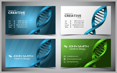 abstract creative business cards (set template) Stock Vector - 11307754