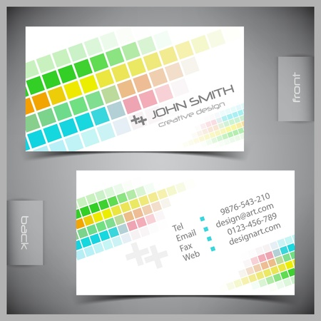 Vector abstract creative business cards (set template) Stock Vector - 11661908