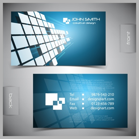 business card template: Vector abstract creative business cards (set template) Illustration