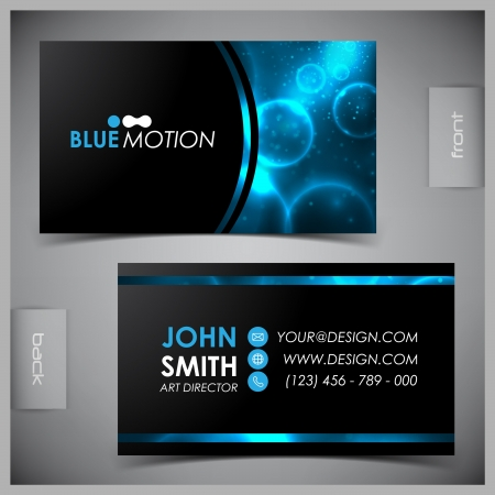 Vector abstract creative business cards (set template) Vettoriali