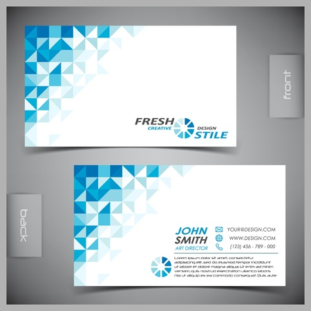 business card layout: Vector abstract creative business cards (set template) Illustration