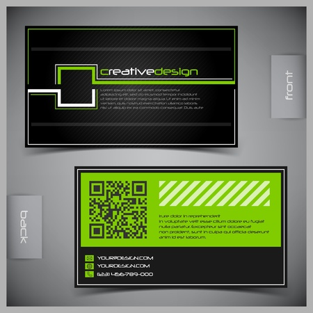 businesses: abstract creative business cards (set template) Illustration