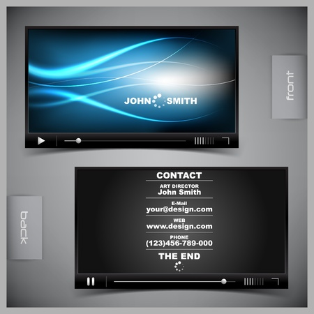 windows media video: abstract creative business cards (set template) Illustration