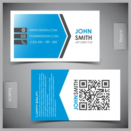 üzlet: elvont kreatív névjegykártyák (set template) Illusztráció