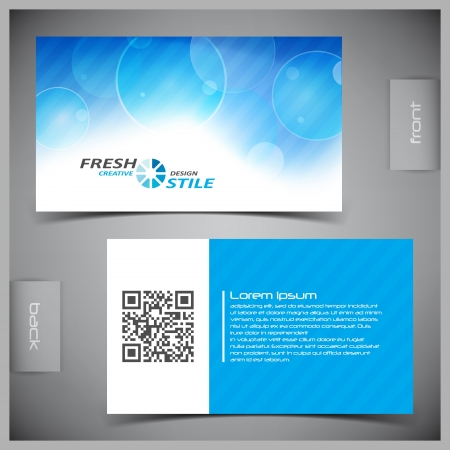 abstract creative business cards (set template) Illustration