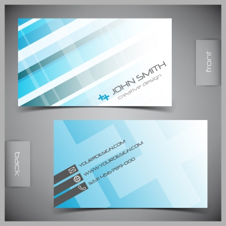 id card: abstract creative business cards (set template) Illustration