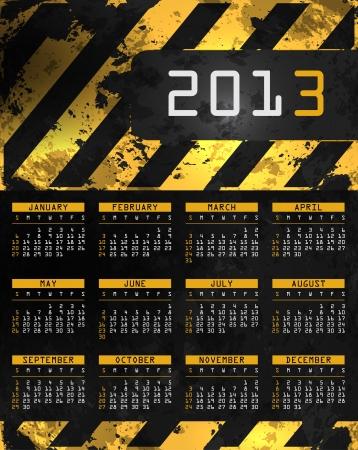 abstract calendar, design template for 2013 Stock Vector - 15417936