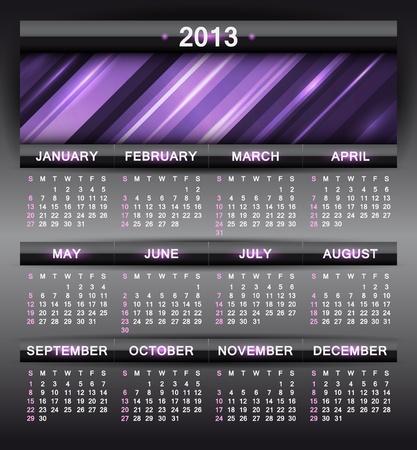 abstract calendar, design template for 2013 Stock Vector - 15417815