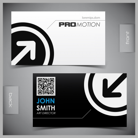 identification card: abstract creative business cards (set template) Illustration