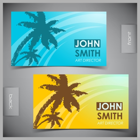 Vector abstract creative tourism business cards (set template) Vector