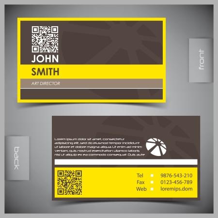 empleos: abstractos tarjetas de visita creativas (plantilla de conjunto) Vectores