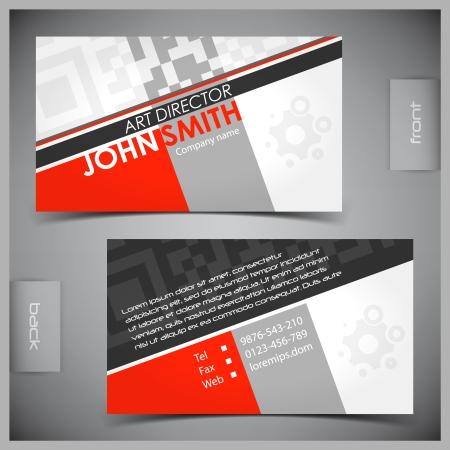 empleos: Resumen de vectores creativas tarjetas de visita conjunto de plantillas