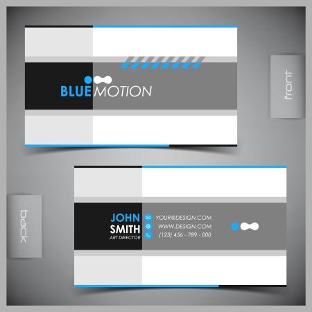 주형: 벡터 추상 크리 에이 티브 비즈니스 카드 템플릿을 설정 일러스트