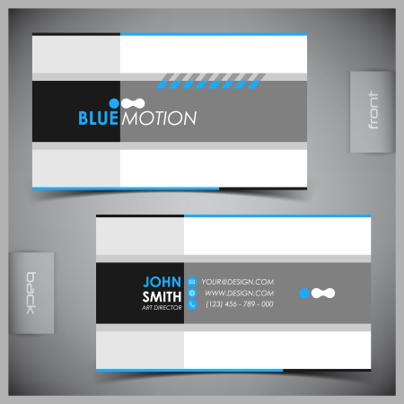 set template: Vector abstract creative business cards  set template  Illustration