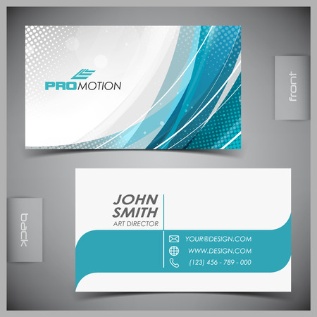 Vector abstract creative business cards  set template  Illustration