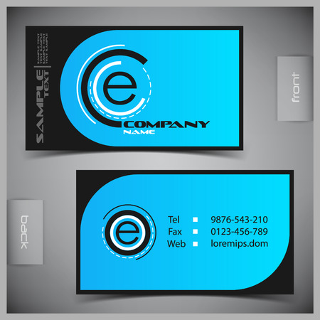 ides: Vector abstract creative business cards set template Illustration