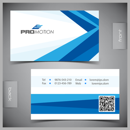 identity: Vector abstract creative business cards (set template) Illustration