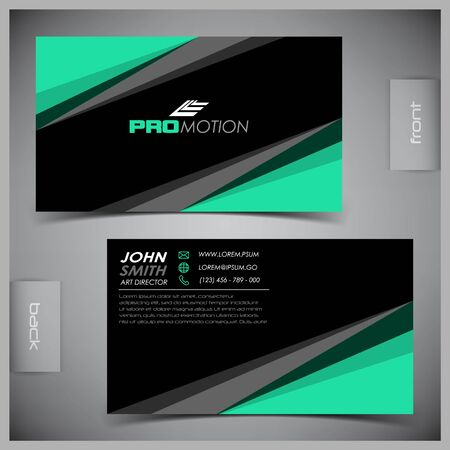 abstract business: Vector abstract creative business cards (set template) Illustration
