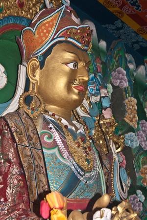 sikkim, India, june18, 2011 - a traditional buddha idol