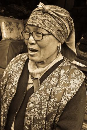 sikkim, India, june 28, 2011 - local people
