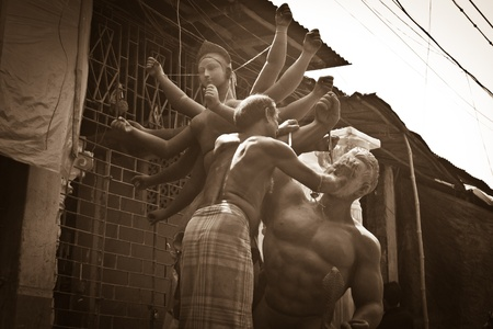 Kumartuli, kolkata (India), 27 october, 2011 - Traditional Idol making - 021 Editorial