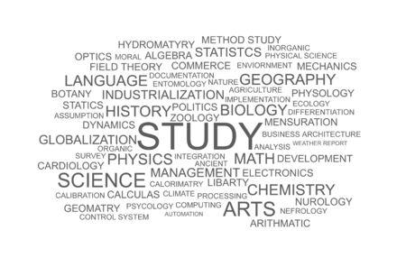 STUDY wordcloud Stock Photo