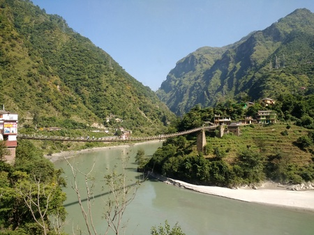Mountains of Himachal Pradesh Stock Photo