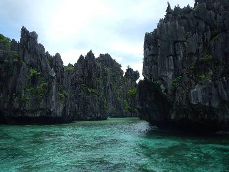 nido: The Big Lagoon at El Nido Palawan Stock Photo