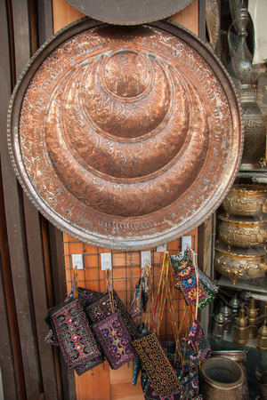 muttrah: Photo taken in November 2008 in a traditional market shop in Damascus, Syria Stock Photo