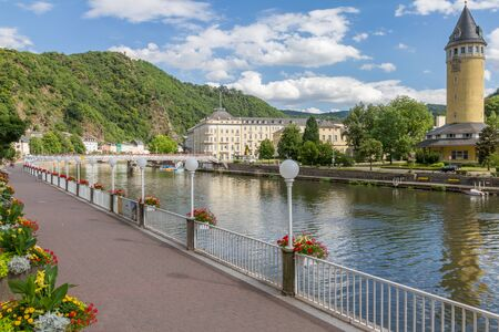 ems: View of the spa town Bad Ems at the river Lahn in Germany