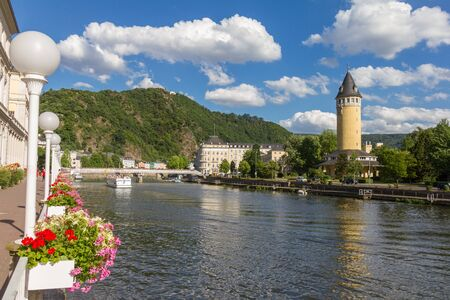 View of the spa town Bad Ems at the river Lahn in Germany