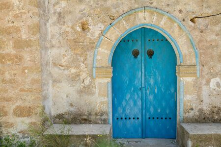 doorhandle: Old door of Panagia Kantariotissa Church in Kantara area in Pentadaktylos, Cyprus