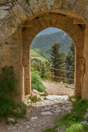 st hilarion: View through Saint Hilarion Castle