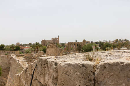 View of Medieval Famagusta from Othello Tower Stock Photo