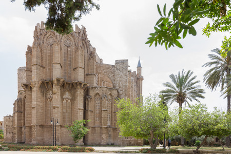 mustafa: Medieval Cathedral of St Nicholas (Lala Mustafa Pasha Mosque) in Famagusta, Cyprus- rear view