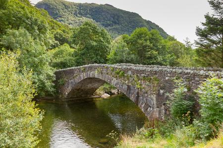 Bridge over the river Derwent at Grange in Borrowdale, near Keswick in the northern English Lake District