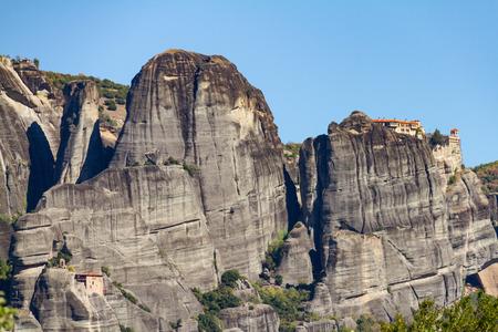 View of Meteora rock monastery complex in Greece
