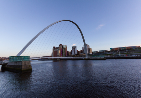 Newcastle Quayside with River Tyne, Gateshead Millenium Bridge and Baltic Centre for Contemporary Art in sight