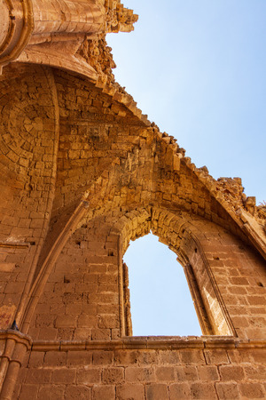 Architectural details of St George of the Greeks Church, inside medieval Famagusta, island of Cyprus