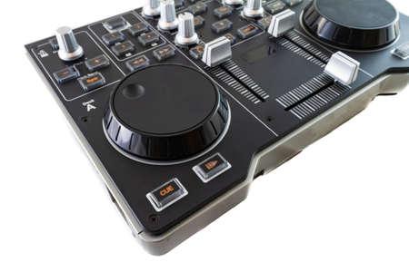 Portable DJ Control Mixer shot on a white background.