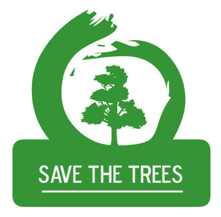 Earth Day - Save the Trees Vector
