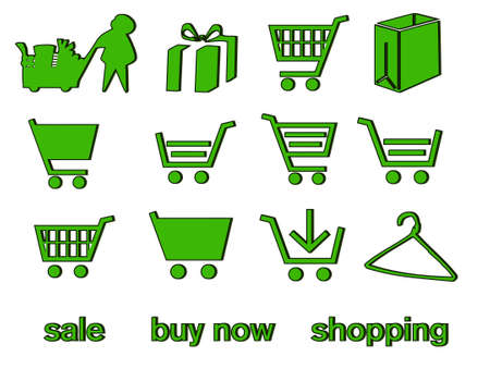 handcart: Handcart - shopping cart  Illustration