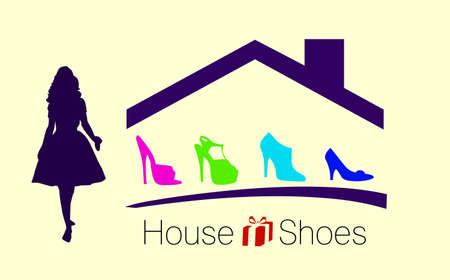 House shoes - business concept design Vector