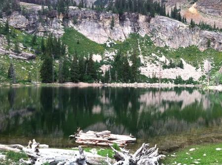 Lake on top of mountain