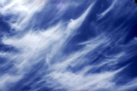 cirrus cloud formed from contails and whipped by wind